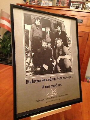 "BIG 11X14 FRAMED ""THE HIGHWAYMEN"" CASH, WAYLON & WILLIE etc LP ALBUM CD PROMO AD"