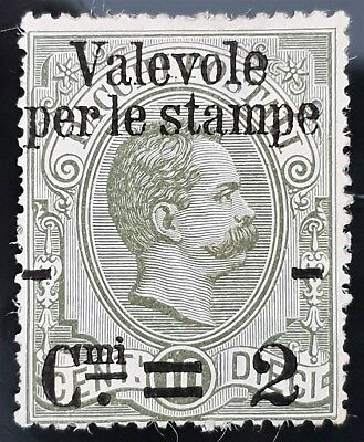 Italy 1890 sc # 58 Mint MHH HH NG 2c on 10c Overprint Grey Stamp