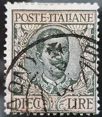 Italy Sg # 85 10 Lira Used HR Stamp CV £ 37.00