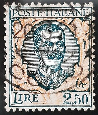 Italy Sg # 187 Used HR 2.50 Lira Stamp