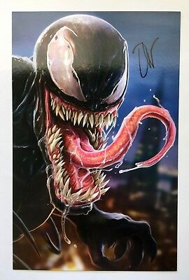 Venom 30th Anniversary FCBD 2018 Litho Print NEW Marvel SIGNED by Dan LuVisi #A