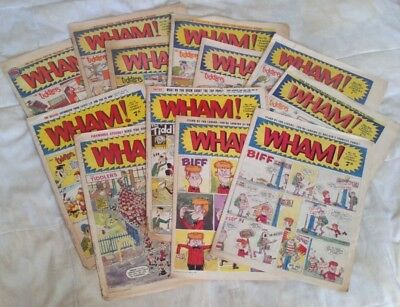 Wham! comic x 12 (1965 - 1966). Fair-Good comics