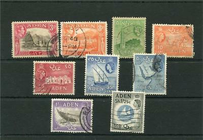 Aden. 9 -- G6/qe2 Used Stamps On Stockcard