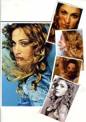 MADONNA - RAY OF LIGHT (20th ANNIVERSARY) PHOTO BOOK FRANCE 2018 NEW + 4 PHOTOS
