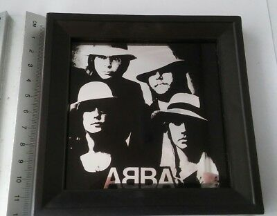 ABBA Small Vintage 1970's Mirror Framed Picture Mirror, Retro Swedish Pop Group