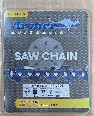 NEW REPLACEMENT CHAINSAW CHAIN FITS  HUSQVARNA   34LG 325 058 78 LINK