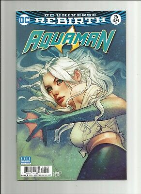Aquaman Comic Book #26, DC 2017, Middleton Variant Dolphin Cover