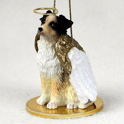 AUSTRALIAN SHEPHERD dog ANGEL ORNAMENT resin Figurine Red Merle Brown AUSSIE