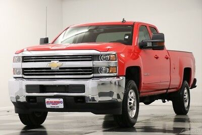 Chevrolet Silverado 2500 HD 4X4 Camera Red Hot Double LT 4WD Like New 2500HD Bluetooth 6.0L V8 17 2017 18 Ext Extended Cab Mylink 2700 Miles