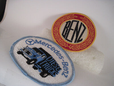 Mercedes Benz lot of 2 patches- one for Diesel Trucks