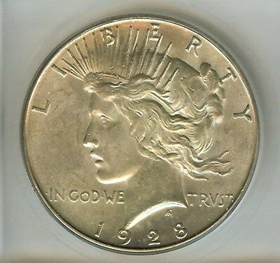 1928-S Peace Silver Dollar  Icg Ms63  Better Date!