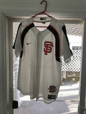 f99755898 SF giants Nike Pro Sewn Cut Team Edition Jersey Men's Large Button Down