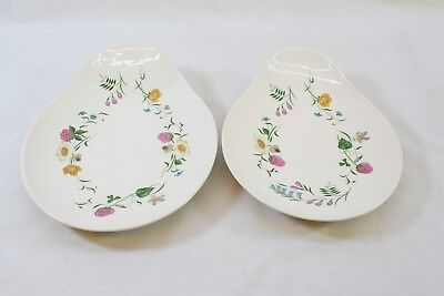 Royal Staffordshire Clarice Cliff Wild Beauty Oval Serving Dish / Plate Pair