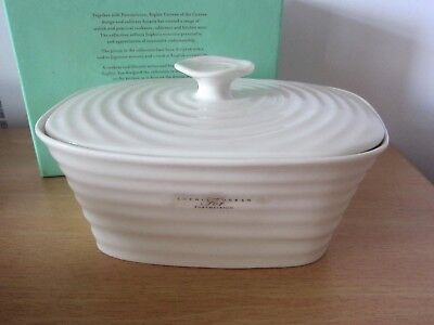 Last One!! Portmeirion Sophie Conran Covered Butter Dish - Bnib