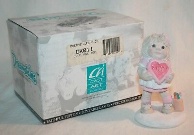 """1995 Cast Art Ind. Dreamsicles Kids DK011 """"Love You Mom"""" Kristin 95, With Box"""