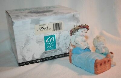 """1995 Cast Art Ind. Dreamsicles DC405 """"A Child's Prayer"""" Kristin 96, With Box"""