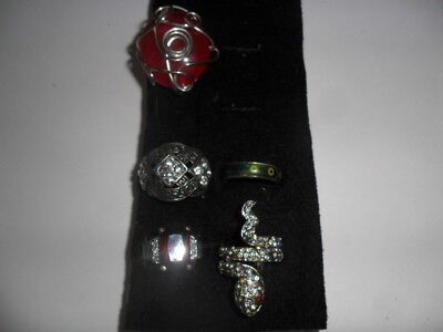 Vintage Costume Ring Lot of 5 items old Mood Ring