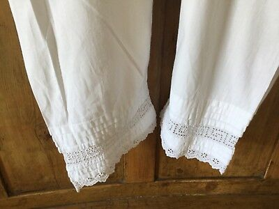 Victorian/Edwardian pantaloons - Broderie anglaise trim - open crotch