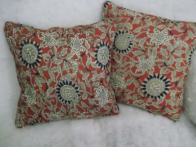 """Cote D'azur By Ralph Lauren 1 Pair Of 18"""" Cushion Covers - Double Sided & Piped"""