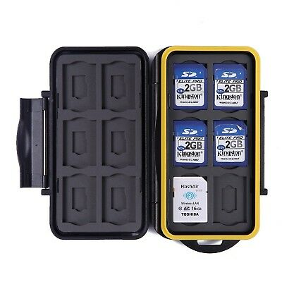Memory Card Case Waterproof Travel Case 12 Micro SD & SD Card Storage Slots