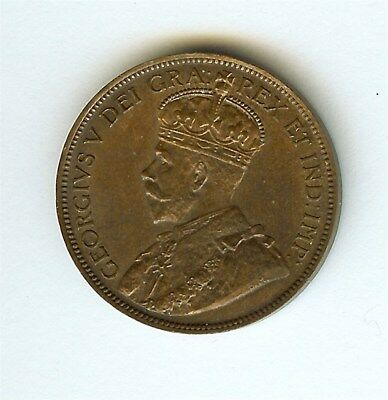 Canada 1917 Large Cent  Near Gem Uncirculated Brown