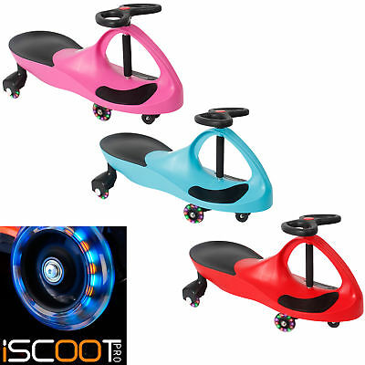 iScoot Twist Wiggle Car Scooter - Twist and Go Gyro Kart with 4 LED Wheels