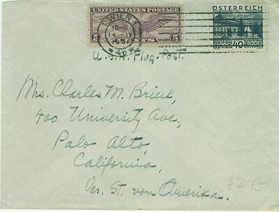 Air mail cover to the United States with combination stamps from