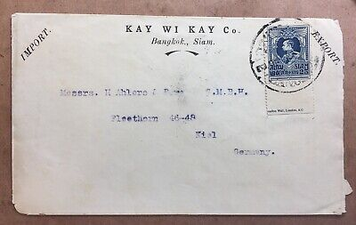 1920Approx Cover from Bangkok to Germany