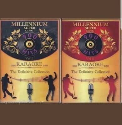 D.K. MILLENNIUM KARAOKE SUPER CD+G   Vol. 1 & 2  1810 Songs + FREE MP3+G DISC