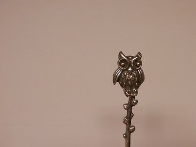 Sterling-Silver Open Salt Cellar (  Owl  )Shaker Spoon