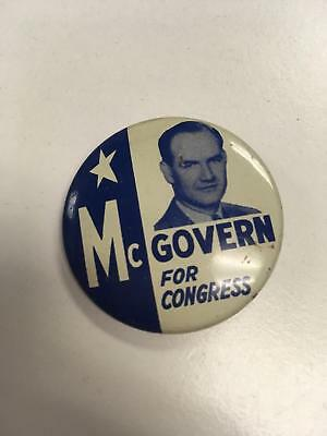 "GEORGE MCGOVERN For Congress Pin Button 1.5"" Democrat From South Dakota"