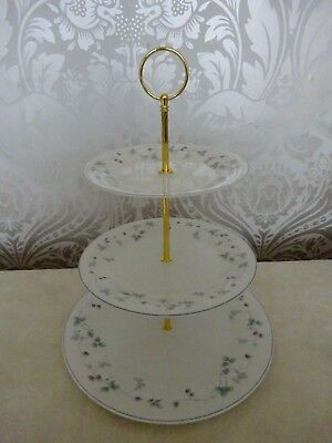 Royal Doulton China expressions Strawberry Fayre 3 tier Cake Stand Afternoon Tea