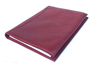 Il Bisonte Leather Large Portfolio Pad Tablet Cover New