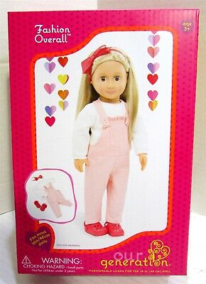 """Our Generation Fashion Overall 18"""" Doll Outfit"""