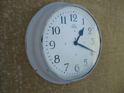 Vintage Synclock Electric Wall Clock 12 Inch Dial. Spares Or Repair