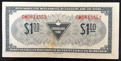 Vintage 1974 Canadian Tire $1 Dollar Note ***EF Condition*** CTC-S4-F-DM