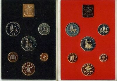 Coinage Of Great Britain & Northern Ireland 1971 & 1981 Proof Sets 12 Coin Lot