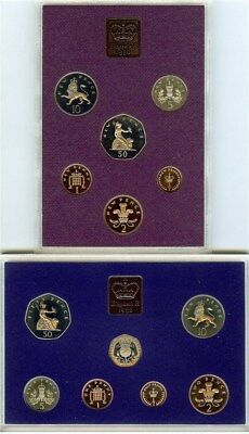 Coinage Of Great Britain & Northern Ireland 1980 & 1982 Proof Sets 13 Coin Lot