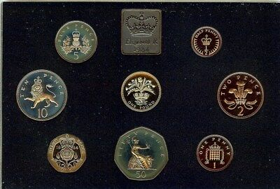 Great Britain 1984 8 Coin Proof Set With Original Case & Box