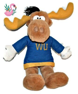"BULLWINKLE Plush Toy Rocky & Bullwinkle Show 14"" Stuffed Moose WU Sweater"