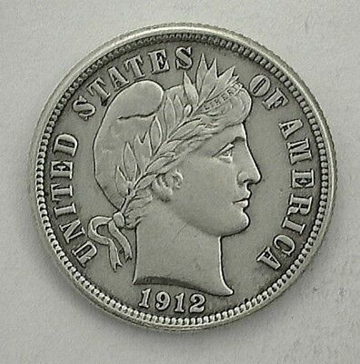 1912 Barber Dime (10 Cents)  Uncirculated