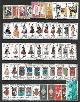 SPAIN - 85 x Mint (Mainly MNH) Stamps - Mainly 1960s-1980s Period