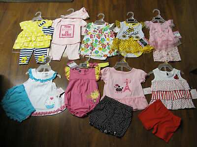 17 Pc Lot of Baby Girls Spring Summer Clothes Size 0/3 3/6 Months 0/3M 3/6M New