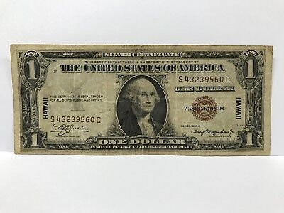 1935 A $1 Hawaii United States of America Silver Certificate Brown Seal