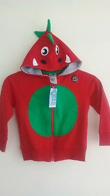 Boys Red Dragon Hooded Jacket age 2 - 3 years BNWT