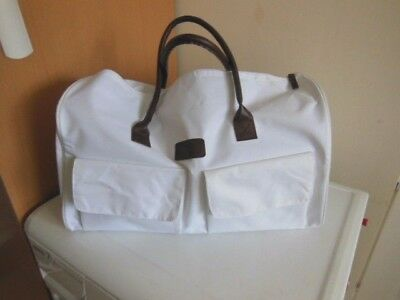 New Large White Canvas Sports Bag/hold All/gym Bag 19'' X 10''  X 8.5'' Wide
