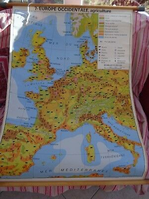 Carte ancienne scolaire, Affiche scolaire, carte scolaire Cremers Europe