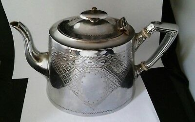 Antique Vintage Victorian Edwardian SILVER Plated ?  TEAPOT