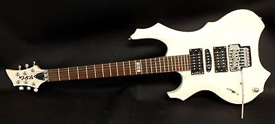 RED PLANET GUITARS Left Handed 6 String Electric Guitar White Locking Trem - N10
