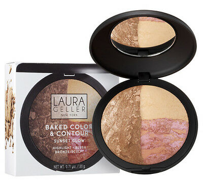 Laura Geller Color & Contour Palette Sunset Glow French Vanilla Tropic Hues New